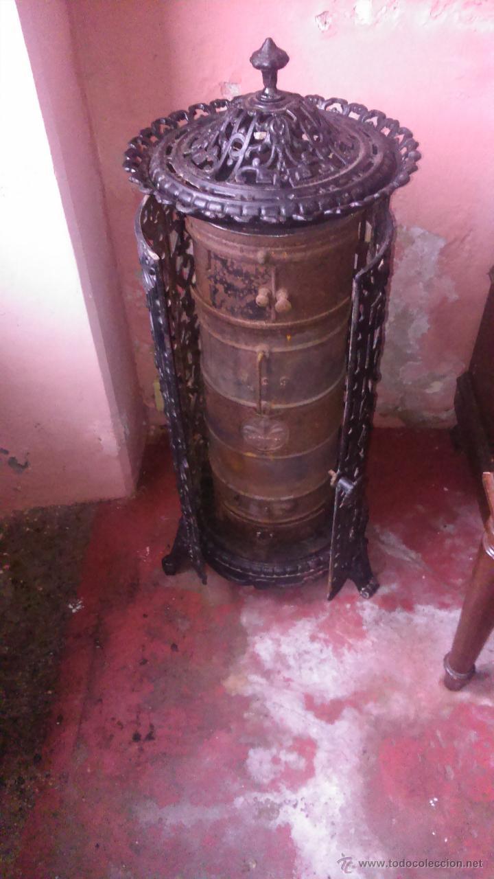Estufa de hierro y le a antigua comprar utensilios del - Estufas de lena de hierro ...
