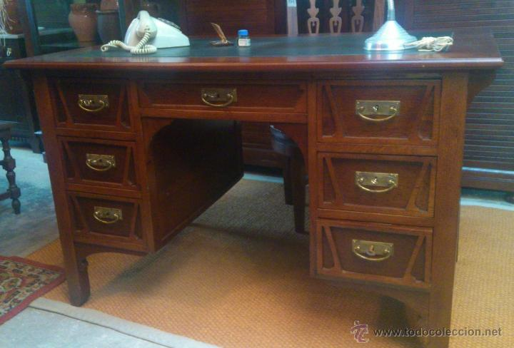 MESA DE DESPACHO MODERNISTA (Antigüedades - Muebles Antiguos - Mesas de Despacho Antiguos)
