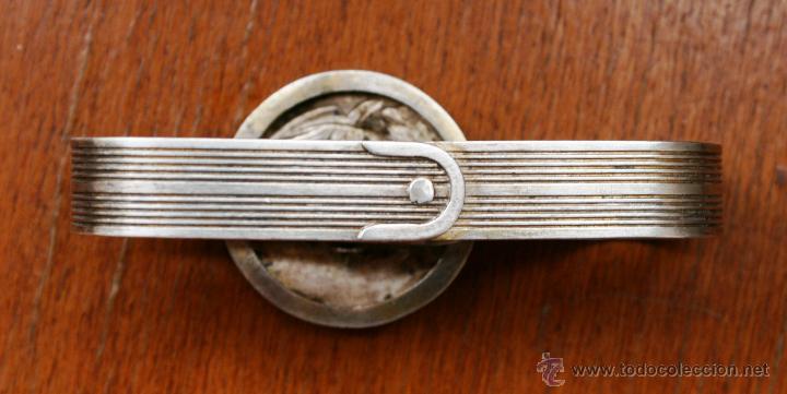 Antigüedades: PIEZA DE COLECCIÓN: ANTIGUO SERVILLETERO INGLES EN METAL PLATEADO CON SELLOS Y MARCAS – FECHADO 1919 - Foto 3 - 41434647
