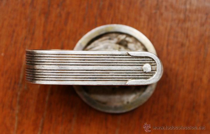 Antigüedades: PIEZA DE COLECCIÓN: ANTIGUO SERVILLETERO INGLES EN METAL PLATEADO CON SELLOS Y MARCAS – FECHADO 1919 - Foto 4 - 41434647