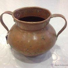 Antigüedades: ORZA DE COBRE DE ASAS DE HIERRO. S XIX. Lote 41445740