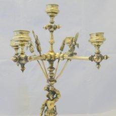 Antigüedades: CANDELABRO PARA CINCO VELAS, FRANCIA , SIGLO XIX - RESTAURADO. Lote 41447126