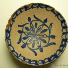 Antigüedades: PLATO/FUENTE FAJALAUZA(GRANADA).CULO DE MONO. Lote 87167070
