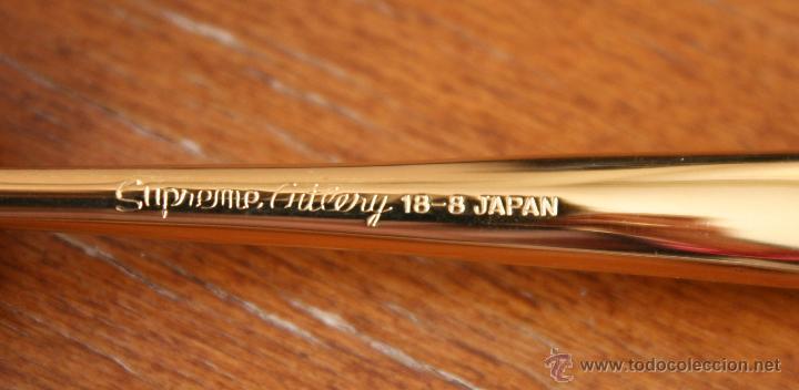Antigüedades: JUEGOS DE 6 CUCHARILLAS SUPREME CUTLERY 18-8 JAPAN EN METAL DORADO – A ESTRENAR EN SU PRECINTO - Foto 3 - 41452726