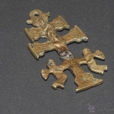 Antigüedades: ANTIGUA CRUZ DE CARAVACA EN BRONCE. Lote 41457128