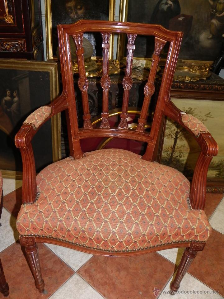 Pareja de sillones ingleses estilo hepplewithe comprar - Sillones de estilo ...