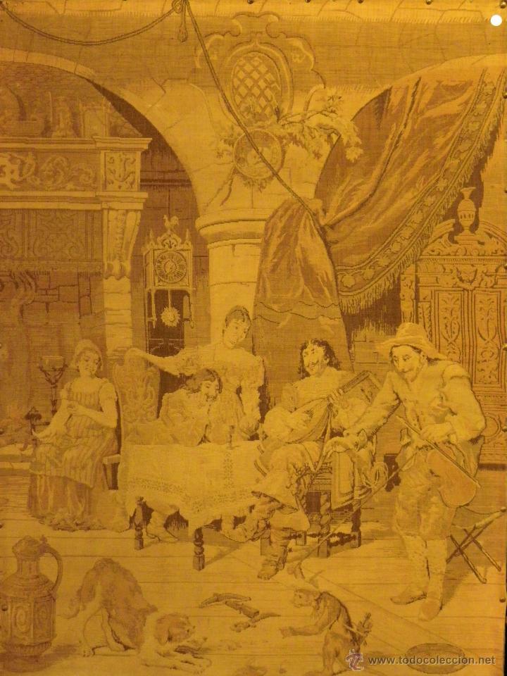 TAPIZ ESCENA FLAMENCA SIGLO XIX (Antigüedades - Hogar y Decoración - Tapices Antiguos)