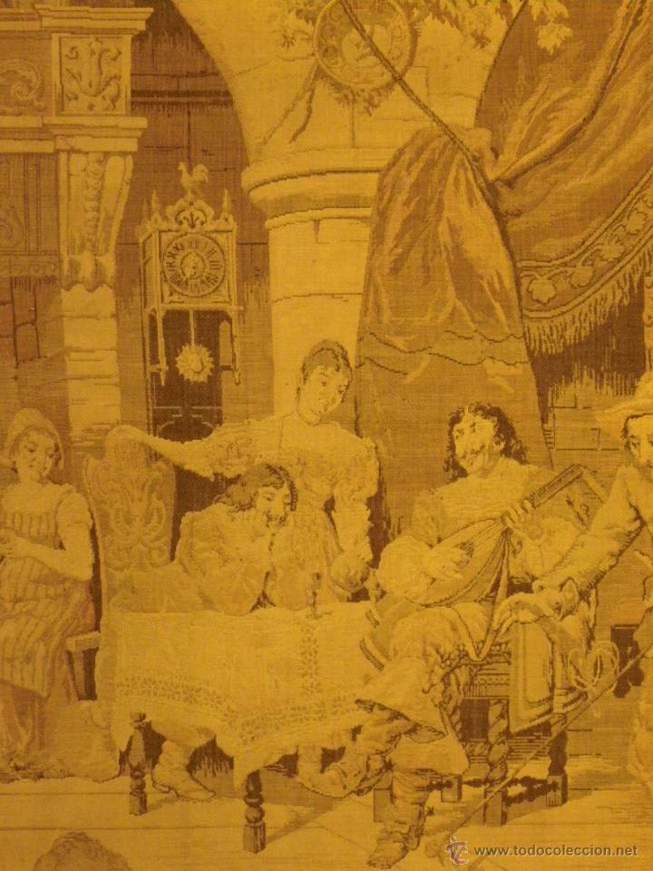 Antigüedades: Tapiz escena flamenca siglo XIX - Foto 2 - 41465573