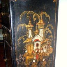 Antigüedades: MUEBLE DE LATA POLICROMADO.LAVABO DEL SXVIII.. Lote 41468818