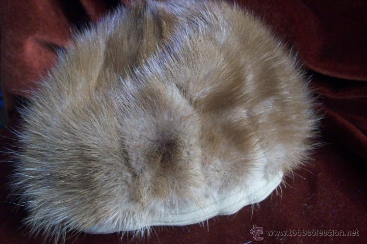 Antigüedades: Gorro vison dorado - Foto 5 - 41470944
