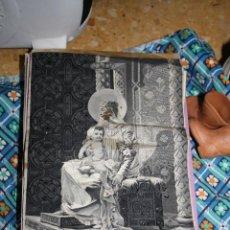 Antigüedades: JACQUARD O TAPIZ EN SEDA SIGOL XIX MOTIVO RELIGIOSO CON FIRMA F.LACALLE. Lote 41472216