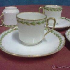 Antigüedades: 5 PLATILLOS Y 6 TAZAS CAFE LIMOGES. Lote 41477790