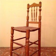 Antigüedades: ANTIGUA TRONA SILLA DE MADERA MUY DECORATIVA. Lote 41491192
