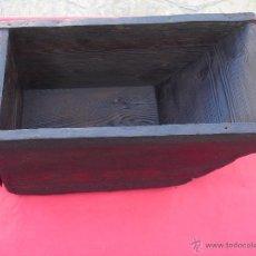 Antigüedades: CUARTILLA -1/4 DE UNA FANEGA-. UNIDAD DE VOLUMEN GENERALMENTE PARA GRANO. DIM.-45,5X26X20 CMS.. Lote 41491643