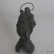 Antiquitäten - Figura antigua San José de metal - 41498909
