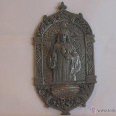 Antigüedades: BENDITERA ANTIGUA SAGRADO CORAZÓN. Lote 41501155