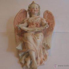 Antigüedades: BENDITERA ANTIGUA ÁNGEL DE BISCUIT. Lote 41501521