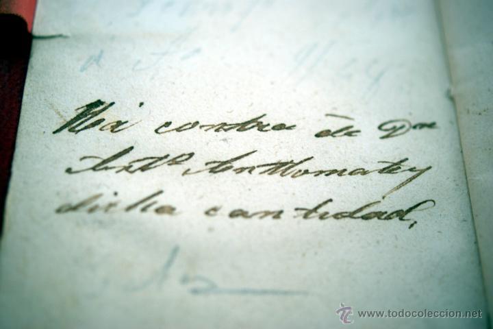 Antigüedades: CARNET DE BAILE - TARJETERO - TERCIOPELO MARRÓN BORDADO EN ORO - S. XIX - Foto 6 - 41505400