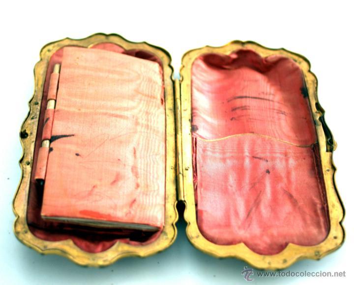 Antigüedades: CARNET DE BAILE - TARJETERO - SEDA Y PIEL BORDADAS - S. XIX - Foto 2 - 41505646