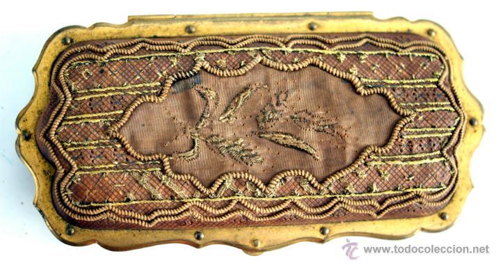 Antigüedades: CARNET DE BAILE - TARJETERO - SEDA Y PIEL BORDADAS - S. XIX - Foto 3 - 41505646