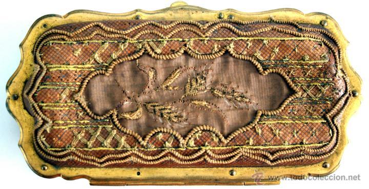 Antigüedades: CARNET DE BAILE - TARJETERO - SEDA Y PIEL BORDADAS - S. XIX - Foto 4 - 41505646
