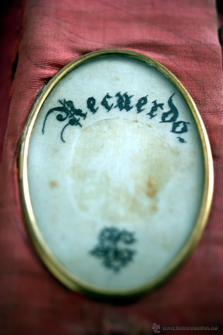 Antigüedades: CARNET DE BAILE - TARJETERO - SEDA Y PIEL BORDADAS - S. XIX - Foto 8 - 41505646