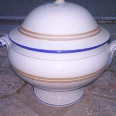 Antigüedades: SOPERA, SELLADA, OPAQUE SARREGUEMINES,1875-1900. Lote 41507697