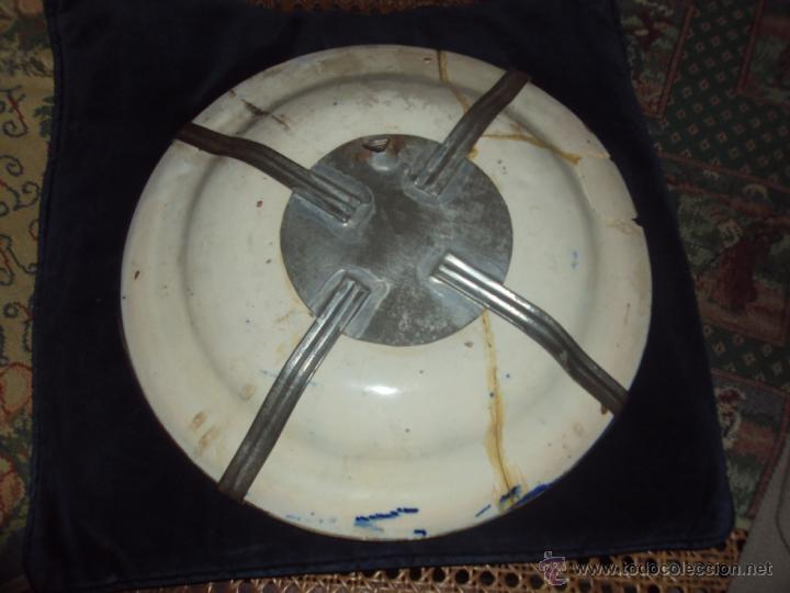 Antigüedades: antiquisimo plato ceramica de Manises pintado a mano- 30 cm - Foto 2 - 41517754
