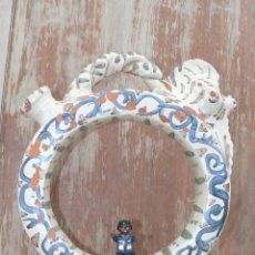 Antigüedades: GRAN BOTIJO MUY ANTIGUO CERAMICA PINTADA SEGORBE CERAMISTA V. GIL . Lote 41522796