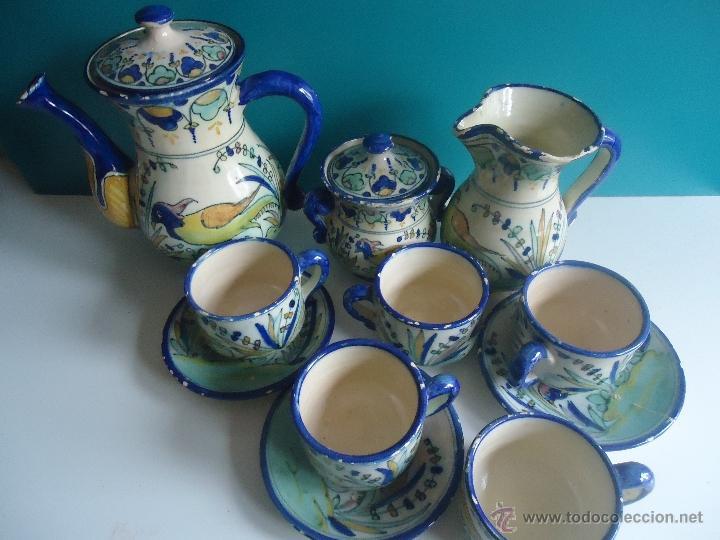 Juego de caf antiguo cer mica puente del arzob comprar - Juego para hacer ceramica ...