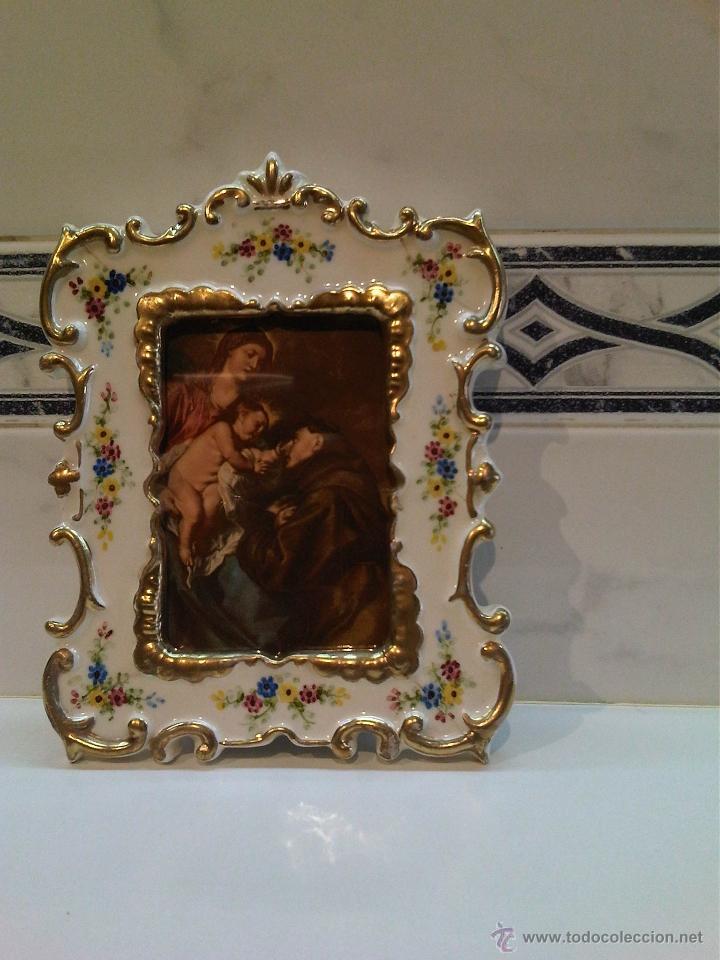 MARCO EN PORCELANA (Antigüedades - Hogar y Decoración - Portafotos Antiguos)