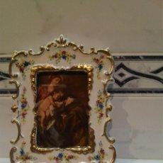 Antigüedades: MARCO EN PORCELANA. Lote 41529007