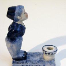 Antigüedades: ANTIGUA FIGURA EN CERÁMICA DE DELFT. Lote 41540766