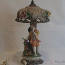 Antigüedades: PRECIOSA LÁMPARA DE PORCELANA. Lote 41542840