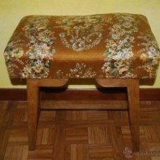 Antigüedades: ANTIGUO TABURETE DE MADERA - ASIENTO - PIANO. Lote 41550919