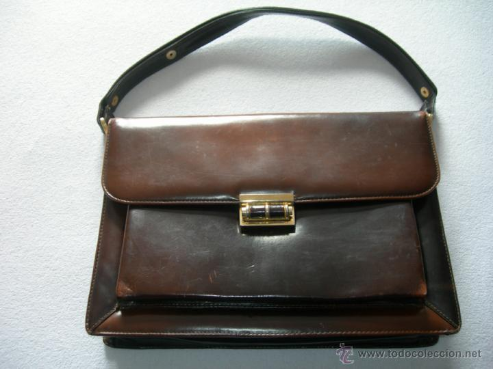 8e4f6a6bb Bonito bolso en piel años 50 - Vendido en Venta Directa - 41557390