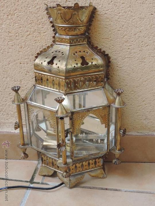 Aplique farol lampara de pared granadino comprar apliques antiguos en todocoleccion - Apliques arabes ...