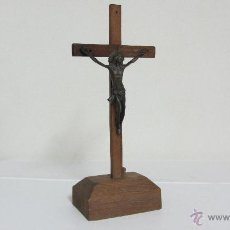 Antigüedades: CRUCIFIJO CON CRISTO DE BRONCE. Lote 41559638