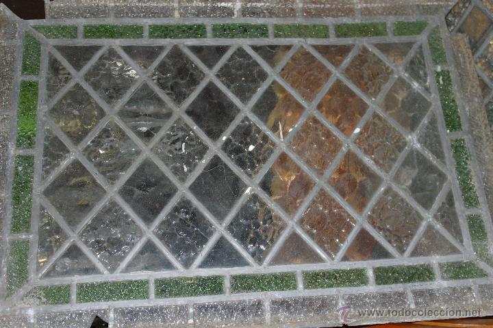ANTIGUA VIDRIERA EMPLOMADA (Antigüedades - Cristal y Vidrio - Otros)
