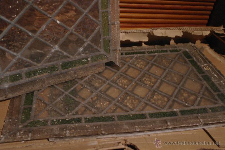 Antigüedades: antigua vidriera emplomada - Foto 4 - 41559957