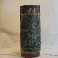Antigüedades: PARAGUERO DE CERÁMICA ANTIGUO. DON QUIJOTE EN RELIEVE. Lote 41564062