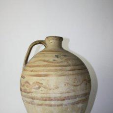Antigüedades: CÁNTARO EN CERÁMICA CON DECORACIÓN PINTADA A MANO, Pº S. XX, 43 CM. ALTO APROX.. Lote 41564612