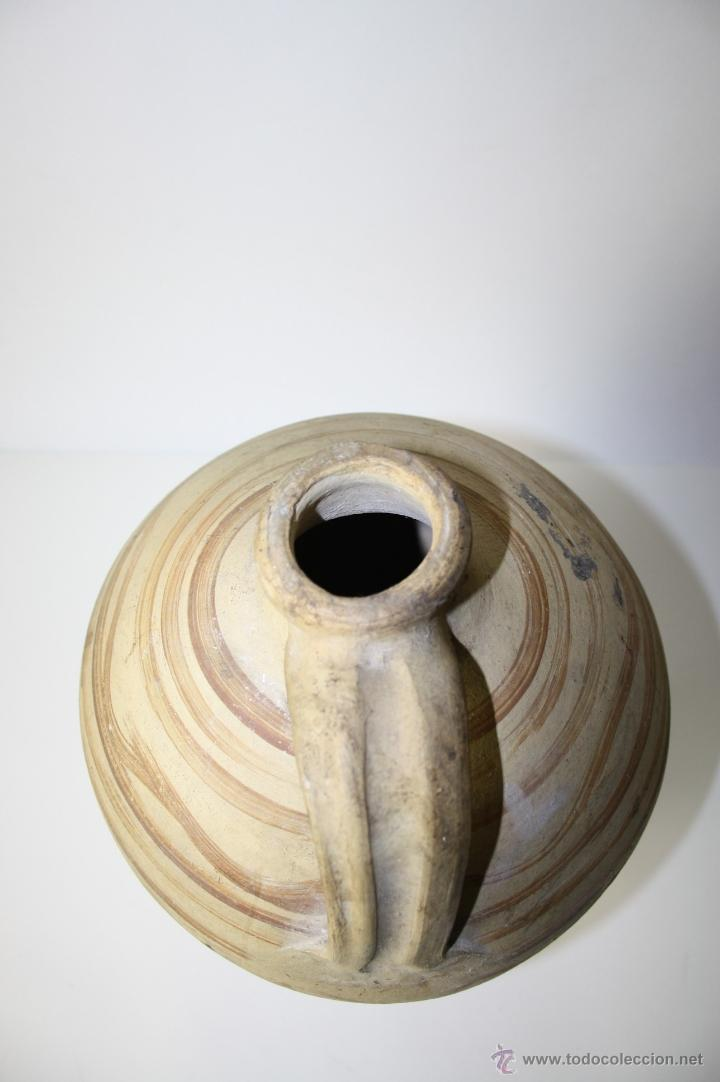 Antigüedades: CÁNTARO EN CERÁMICA CON DECORACIÓN PINTADA A MANO, Pº S. XX, 43 CM. ALTO APROX. - Foto 3 - 41564612