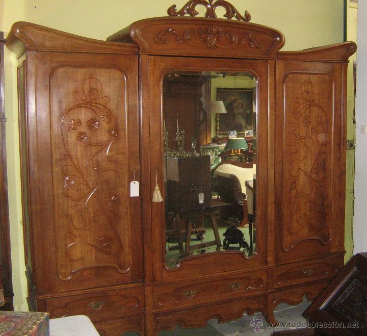 Armario modernista antiguo de cerezo comprar armarios - Armario antiguo segunda mano ...