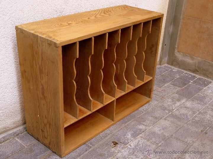 Antiguo mueble papelero archivero de madera de comprar - Muebles de madera antiguos ...