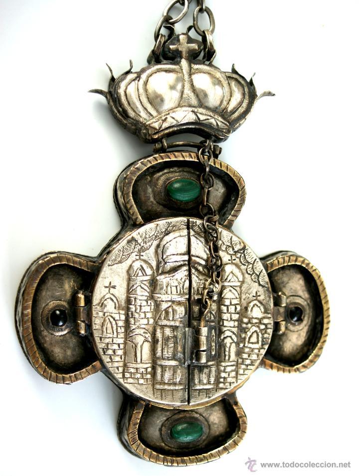TRÍPTICO ENGOLPION - PANAGIA - PECTORAL DE PATRIARCA ORTODOXO - S. XVIII - RUSIA IMPERIAL (Antigüedades - Religiosas - Orfebrería Antigua)