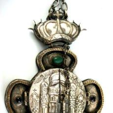 Antigüedades: TRÍPTICO ENGOLPION - PANAGIA - PECTORAL DE PATRIARCA ORTODOXO - S. XVIII - RUSIA IMPERIAL. Lote 41588598