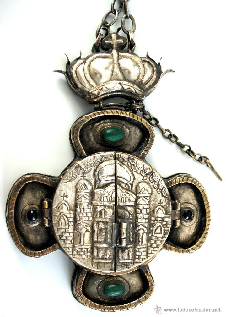 Antigüedades: TRÍPTICO ENGOLPION - PANAGIA - PECTORAL DE PATRIARCA ORTODOXO - S. XVIII - RUSIA IMPERIAL - Foto 6 - 41588598