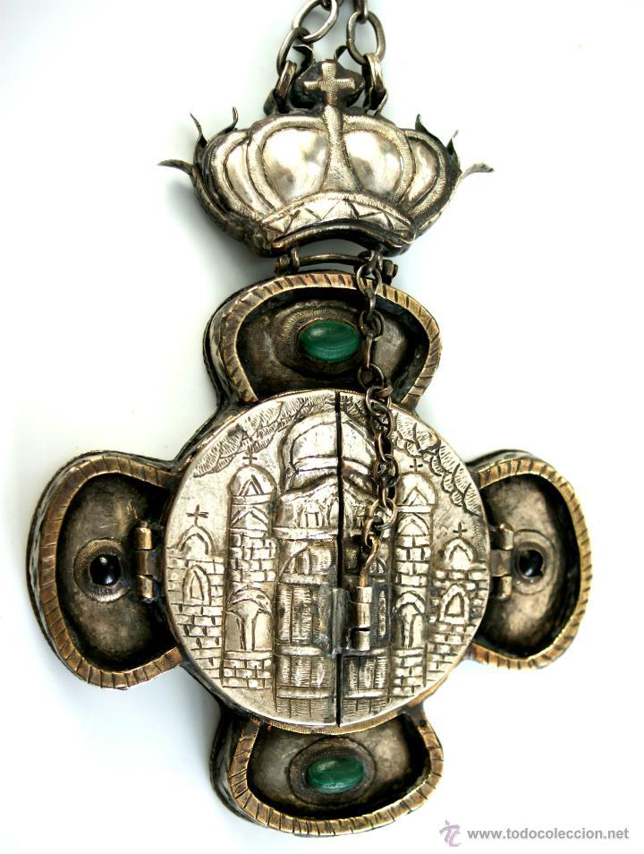 Antigüedades: TRÍPTICO ENGOLPION - PANAGIA - PECTORAL DE PATRIARCA ORTODOXO - S. XVIII - RUSIA IMPERIAL - Foto 7 - 41588598