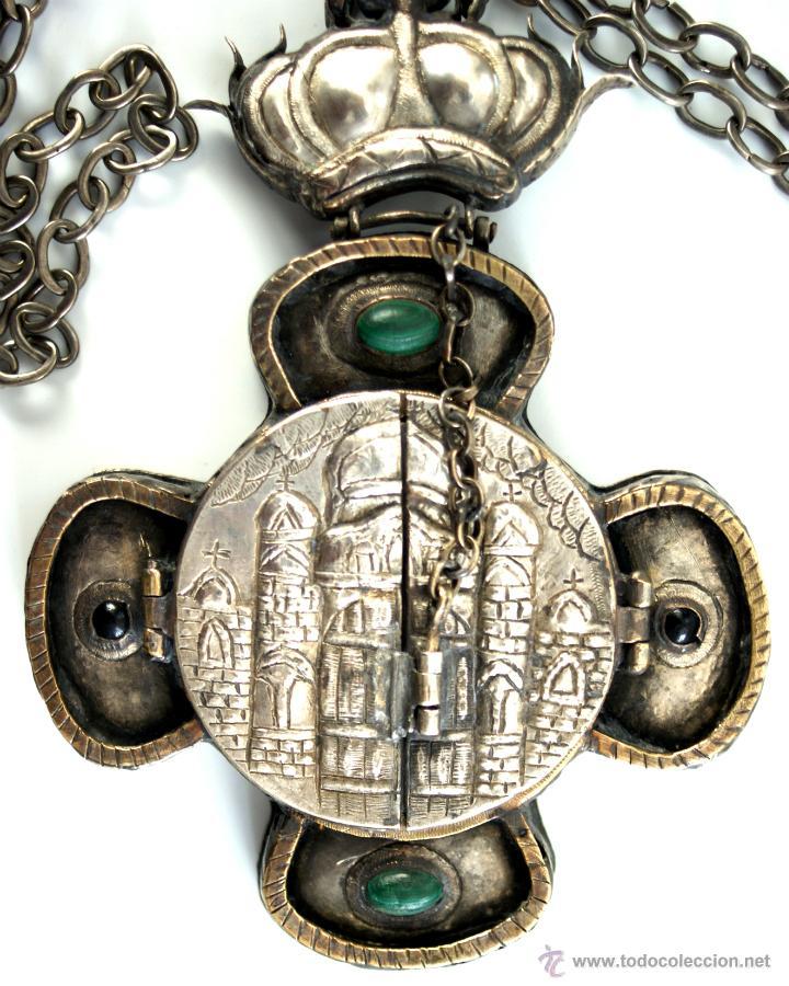 Antigüedades: TRÍPTICO ENGOLPION - PANAGIA - PECTORAL DE PATRIARCA ORTODOXO - S. XVIII - RUSIA IMPERIAL - Foto 13 - 41588598